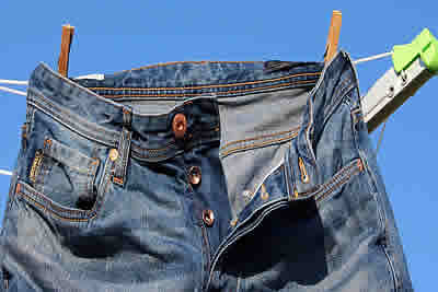 jeans on washing line